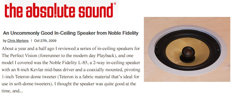 An Uncommonly Good In-Ceiling Speaker from Noble Fidelity by Chris Martens