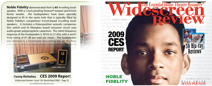Danny Richelieu – Widescreen Review Magazine 2009 CES Report March/April Issue #139