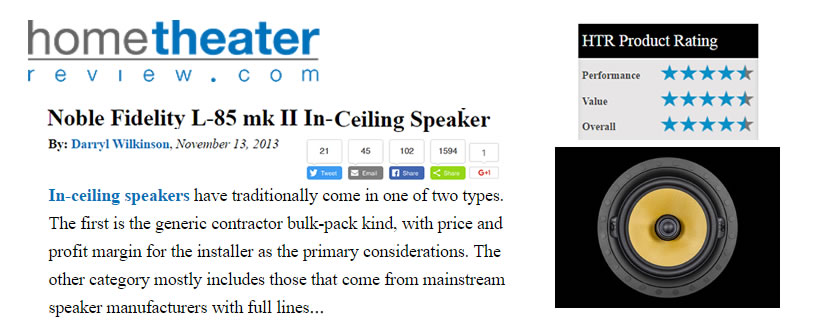 Review | L-85 mk II In-Ceiling Speaker By Darryl Wilkinson